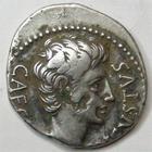 Photo numismatique  Monnaies Empire Romain AUGUSTE, AUGUSTUS, AUGUSTO Denier, denar, denario, denarius AUGUSTUS, AUGUSTE, denier frappé à Emerita? En 19/18, SPQR CL V, 2.99 grammes, RIC.74 / C.289, fourré!, TTB/TTB+ monnaie agréable et rare!!