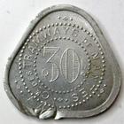 Photo numismatique  Monnaies Monnaies de nécéssité Nantes 30 Centimes NANTES, Compagnie des tramways, 30 centimes contremarqué, E.30.10 TTB+