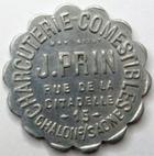 Photo numismatique  Monnaies Monnaies de nécéssité Chalons sur Saone 10 Centimes CHALONS SUR SAONE, Charcuterie J.PRIN, bon pour 10 centimes en marchandises, E.95.2 SUPERBE