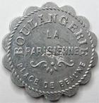 Photo numismatique  Monnaies Monnaies de nécéssité Chalons sur Saone 5 Centimes CHALONS SUR SAONE, Boulangerie ''la Parisienne'', bon pour 5 centimes en marchandises, E.45.1 TTB+