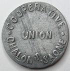 Photo numismatique  Monnaies Monnaies de nécéssité Chalons sur Saone 5 Centimes CHALONS SUR SAONE, union coopérative, 5 centimes, flan large, E.110.1 TTB