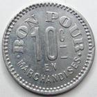 Photo numismatique  Monnaies Monnaies de nécéssité Chalons sur Saone 10 Centimes CHALONS SUR SAONE, Le bon genie, bon pour 10 centimes en marchandises, E.10.3 SUPERBE
