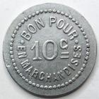 Photo numismatique  Monnaies Monnaies de nécéssité Chalons sur Saone 10 Centimes CHALONS SUR SAONE, Laiterie St Georges, bon pour 10 centimes en marchandises, E.140.2 TTB+/SUPERBE