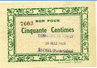 Photo numismatique  Billets Billets de la 1ère guerre mondiale Numismatique des mines Compagnie de Ferfay AUCHEL, Compagnie de Ferfay, 50 centimes, 20 Mai 1915, P.62.17 Q.NEUF