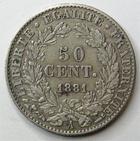 Photo numismatique  Monnaies Monnaies Fran�aises Troisi�me R�publique 50 Centimes 50 centimes C�r�s 1881 A, G.419a TTB