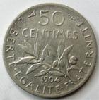 Photo numismatique  Monnaies Monnaies Françaises Troisième République 50 Centimes 50 centimes Semeuse de Roty 1904, G.420 TTB
