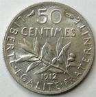 Photo numismatique  Monnaies Monnaies Françaises Troisième République 50 Centimes 50 centimes Semeuse de Roty 1912, G.420 SUPERBE