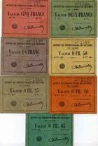 Photo numismatique  Billets Billets des camps de prisonniers Dépot de prisonniers de guerre du Havre Billet et carton DEPOT DE PRISONNIERS DE GUERRE DU HAVRE, 7 cartons différents, TTB