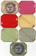 Photo numismatique  Billets Billets des camps de prisonniers Dépot de prisonniers de guerre de Rouen Billet et carton DEPOT DE PRISONNIERS DE GUERRE DE ROUEN, 7 cartons différents, SUPERBE ET TTB+