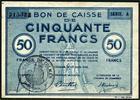 Photo numismatique  Billets Billets d'Alsace - Moselle Colmar Bon de caisse de 50 francs COLMAR, Bon de caisse de 50 francs, 17 juin 1940, TTB