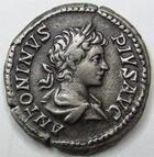 Photo numismatique  Monnaies Empire Romain CARACALLA Denier, denar, denario, denarius CARACALLA, Denier, Rome en 204, Idulgentia AUGG, In Carth, 3.04 grammes, RIC.130a TTB+