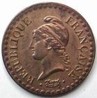 Photo numismatique  Monnaies Monnaies Françaises Deuxième République 1 Centime 1 centime Dupré 1851 A, G.84 TTB+ avec sa couleur d'origine!