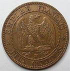 Photo numismatique  Monnaies Monnaies Françaises Second Empire 2 Centimes NAPOLEON III, 2 centimes tête nue 1856 MA Marseille, G.103 TTB/TTB+