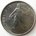 Photo numismatique  Monnaies Monnaies Françaises Cinquième république 5 Francs 5 Francs Semeuse  de Roty 1983, G.771 SUPERBE à FDC