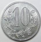 Photo numismatique  Monnaies Anciennes colonies Françaises Algerie, Algeria Alger ALGERIE, ALGERIA, 10 centimes aluminium 1916, Chambre de commerce d'Alger, LEC.138 petite corrosion sinon SUPERBE