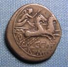Photo numismatique  Monnaies R�publique Romaine Porcia 123 avant Jc  C.PORCIUS CATO 123 avant J�sus Christ, denier, bige, Sear 149 TTB