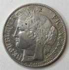 Photo numismatique  Monnaies Monnaies Françaises Troisième République 50 Centimes 50 centimes Cérès 1895 A Paris, G.419a TB+ (petites rayures au revers)