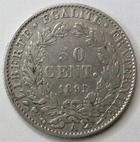 Photo numismatique  Monnaies Monnaies Fran�aises Troisi�me R�publique 50 Centimes 50 centimes C�r�s 1895 A Paris, G.419a TB+ (petites rayures au revers)