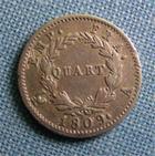 Photo numismatique  Monnaies Monnaies Françaises 1er Empire Quart de franc NAPOLEON Ier quart de franc 1809 A Paris, Gadoury 350 TTB