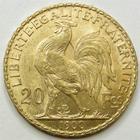 Photo numismatique  Monnaies Monnaies Française en or Troisième République 20 Francs or 20 Francs or Coq 1900, G.1064 traces de circulation TTB+ R!