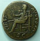 Photo numismatique  Monnaies Empire Romain CLAUDE I, CLAUDIUS I, CLAUDIO I, CLAUDIUS, CLAUDIO As, asse,  CLAUDIUS I, CLAUDE Ier, as frappé à Rome, Cérès  Augusta SC, 10.47 grammes, RIC.94 TB
