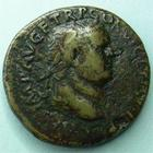 Photo numismatique  Monnaies Empire Romain TITUS, TITO As, asse,  TITUS, As frappé à Rome en 74, Pax, 12.52 grammes, C.145 TB