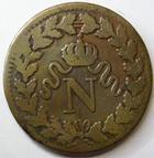 Photo numismatique  Monnaies Monnaies Fran�aises Les cents jours Un D�cime NAPOLEON Ier, les cents jours, Un d�cime 1815.BB. Strasbourg, G.195e, TB+/TB