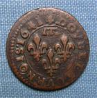 Photo numismatique  Monnaies Monnaies F�odales Dombes Double Tournois DOMBES, GASTON D'ORLEANS, double tournois 1641, Boudeau 1087 variante, TTB