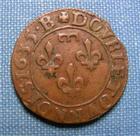 Photo numismatique  Monnaies Monnaies F�odales Dombes Double Tournois GASTON D'ORLEANS double tournois 1635 B, Boudeau 1087 variante TTB+