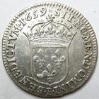 Photo numismatique  Monnaies Monnaies Royales Louis XIV Médaille 1/12ème d'Ecu au buste juvénile LOUIS XIV, 1/12ème d'Ecu au buste juvénile, 1659 B Rouen, 2.25 grammes, G.115 TTB+