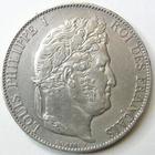 Photo numismatique  Monnaies Monnaies Fran�aises Louis Philippe 5 Francs LOUIS PHILIPPE Ier, 5 francs 1848 A Paris, G.678a petit coup sur tranche sinon TTB+