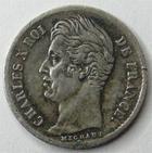 Photo numismatique  Monnaies Monnaies Fran�aises Charles X 1/4 de Franc CHARLES X, 1/4 de franc 1829 W Lille, G.353 TTB