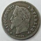 Photo numismatique  Monnaies Monnaies Françaises Second Empire 20 Cmes NAPOLEON III, 20 centimes lauré 1866 BB Strasbourg, G.308 TB à TTB