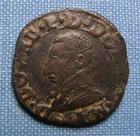 Photo numismatique  Monnaies Monnaies F�odales Dombes Double Tournois FRANCOIS II DE BOURBON MONTPENSIER, double tournois, 1588, Boudeau 1065 variante, TTB
