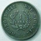 Photo numismatique  Monnaies Monnaies Françaises Napoleonides 1 Lire Italie, Italia, Napple et Sicile, Jochim Napoléon, Murat, 1 lira 1813, KM.109 Bon TTB