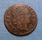Photo numismatique  Monnaies Monnaies F�odales Champagne Denier Tournois CHARLES II DE GONZAGUE, denier tournois, CHARLEVILLE, 1652, le A du revers est V invers� !, Bd 1816 variante, TTB R!