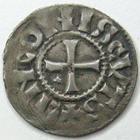 Photo numismatique  Monnaies Monnaies Carolingienne Louis IV d'Outremer Denier de Langres LOUIS IV d'Outremer, 936.954, Denier de Langres, HLUDOVICUS, LINCONIS CVTS, MG.1636 Variante, flan large TTB+ R!