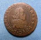 Photo numismatique  Monnaies Monnaies F�odales Champagne Double Tournois CHAMPAGNE, CHARLES I DE GONZAGUE, 1634, double tournois, Poey D'Avant 6160 TTB