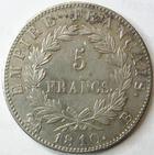 Photo numismatique  Monnaies Monnaies Françaises 1er Empire 5 Francs NAPOLEON Ier, 5 francs 1810 B Rouen, G.584 Bon TTB