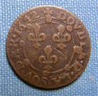 Photo numismatique  Monnaies Monnaies F�odales Champagne Double Tournois CHARLEVILLE, CHARLES II DE GONZAGUE, 1642,( DOUBLE.D.LA.SOV.DAR.1642) Boudeau 1815 variante TTB