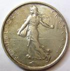 Photo numismatique  Monnaies Monnaies Françaises Cinquième république 5 Francs 5 Francs semeuse argent, 1966, G.770 SUPERBE