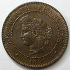 Photo numismatique  Monnaies Monnaies Françaises Troisième République 5 Centimes 5 centimes type Cérès 1892 A, G.157a SUPERBE+