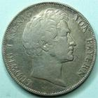 Photo numismatique  Monnaies Monnaies étrangères Allemagne Bayern (Bavière) 1 Gulden Allemagne, Deutschland, Bavière, Bayern, Ludwig I, 1 gulden 1846, AKS.95 TTB