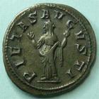 Photo numismatique  Monnaies Empire Romain GORDIEN III, GORDIAN III, GORDIANUS III, GORDIANO III Denier, denar, denario, denarius GORDIANUS PIUS, GORDIEN III le Pieux, Denier, Rome en 241, Pietas Augusti, 3.09 grammes, RIC.129 TTB