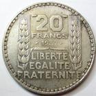 Photo numismatique  Monnaies Monnaies Fran�aises Troisi�me R�publique 20 Francs 20 francs type Turin 1937, G.852 TTB+