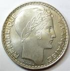 Photo numismatique  Monnaies Monnaies Fran�aises Troisi�me R�publique 20 Francs 20 Francs type Turin 1933 rameaux longs, G.852 SUPERBE