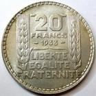 Photo numismatique  Monnaies Monnaies Françaises Troisième République 20 Francs 20 Francs type Turin 1933 rameaux longs, G.852 SUPERBE