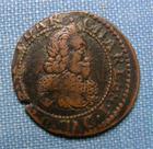 Photo numismatique  Monnaies Monnaies F�odales Champagne Double de bouillon CHARLES I DE GONZAGUE, 16(3)4, double tournois, Poey D'Avant 6169 TTB