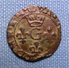 Photo numismatique  Monnaies Monnaies F�odales Dombes Liard DOMBES, GASTON D'ORLEANS, Liard de billon, Boudeau 1091 variante, TTB
