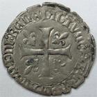 Photo numismatique  Monnaies Monnaies Royales Fran�ois Ier Blanc Franciscus FRANCOIS Ier, Blanc Franciscus, Ancre=Bayonne, 1.96 grammes, DY.856 TTB